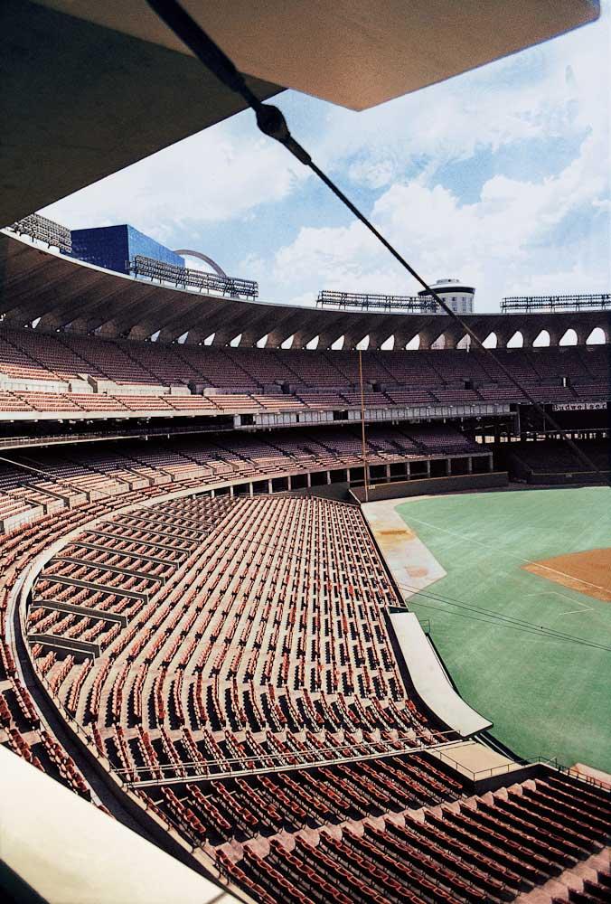 Busch Memorial Stadium 1973 www.ballparkprints.com