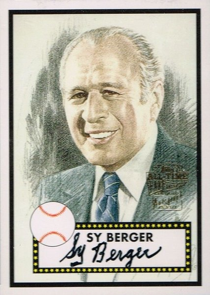 Sy Berger'  2004 Topps Bseball Card