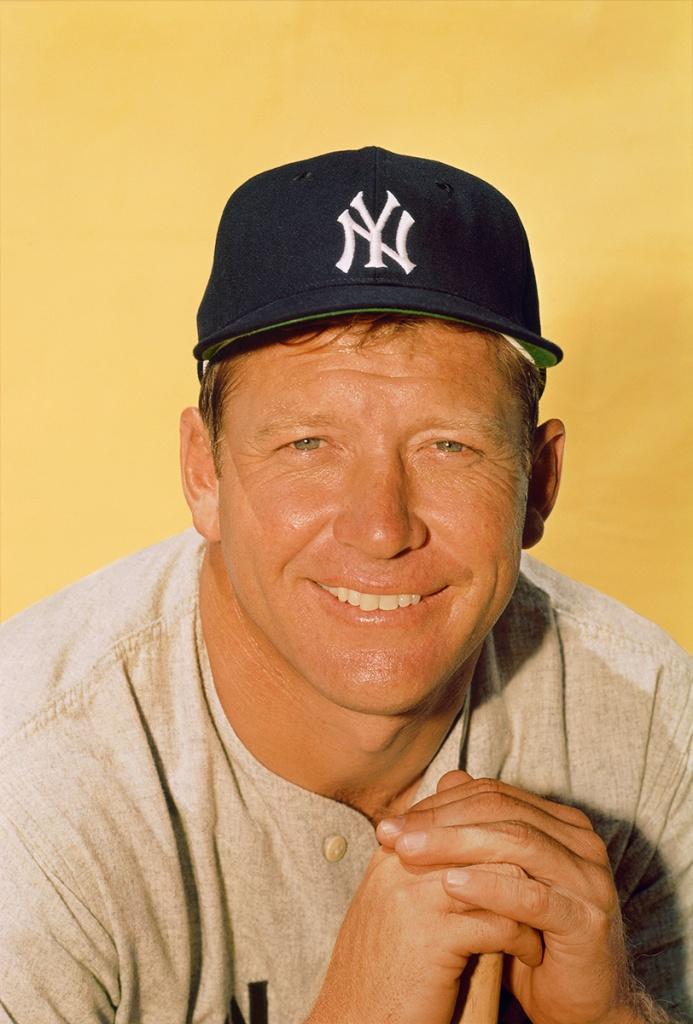 Mickey Mantle 1964 Photographer Ozzie Sweet  Registered Copyright Holder Paul Plaine Ballpark Prints LLC