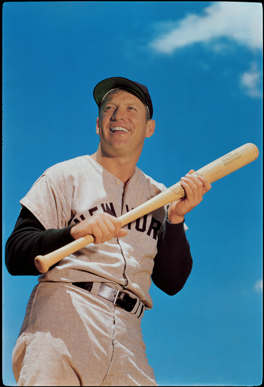 Mickey Mantle 1960 Photographer Ozzie Sweet Registered Copyright Holder Paul Plaine Ballpark Prints LLC