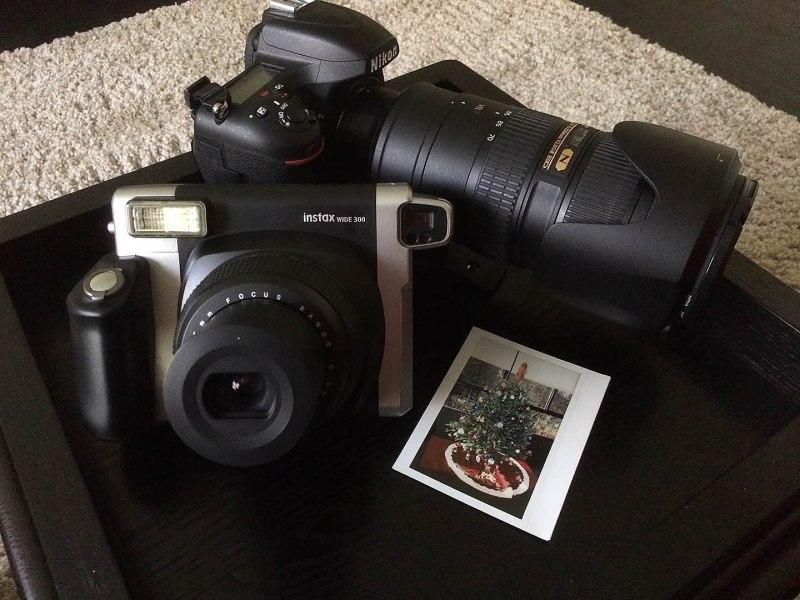 My Nikon , lens 70-200mm f2.8 FujiFilm Instax Wide 300 & First Polaroid. Shoot on my iphone 5s Paul Plaine/Ballpark Prints LLC