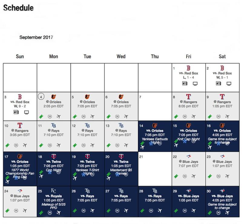 ballparkprints-Yankees-September 2017